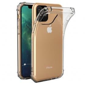 Mobilt skall Shockproof silikonskall Apple iPhone XI Max 2019 myk gjennomsiktig