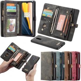Multi-lommebok CaseMe 11-kort OnePlus 7 mobil skinnveske