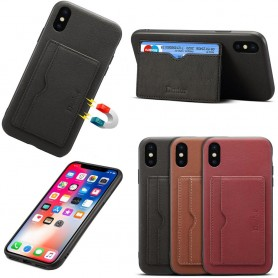 "Denior skinnveske med kortspor Apple iPhone X / XS (5,8 "")"