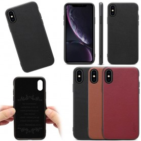 "Mobiltelefon Denior ekte skinndeksel Apple iPhone X / XS (5,8 "")"