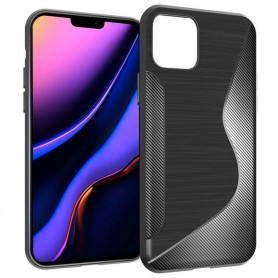 """Mobiltelefon S-Line silikonetui til Apple iPhone 6.5 """"(2019) - Svart"""