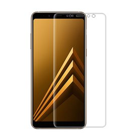 3D buet glassskjermbeskytter Samsung Galaxy A8 Plus 2018 gjennomsiktig