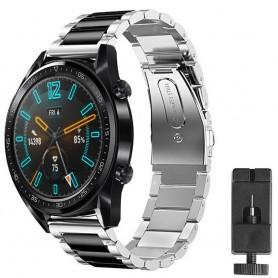 Huawei Watch GT2 rustfritt stål armbånd - sølv / sv