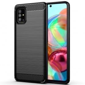 Børstet silikonetui til Samsung Galaxy A71 (SM-A705F)