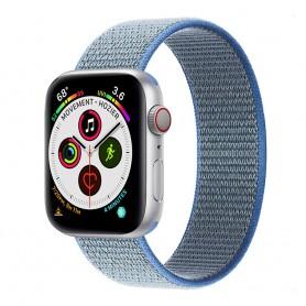 Apple Watch 5 (40mm) Nylon armbånd - Tahoe Blue