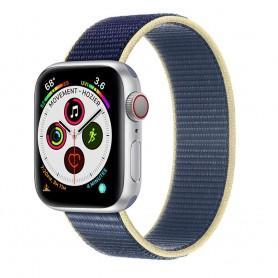 Apple Watch 5 (40mm) Nylon armbånd - Artic Ocean Blue