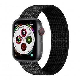 Apple Watch 5 (40mm) Nylon armbånd - svart / hvitt