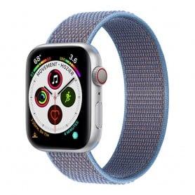 Apple Watch 5 (40mm) Nylon armbånd - Cerulean