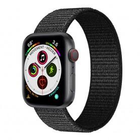 Apple Watch 5 (40mm) Nylon armbånd - Dark black