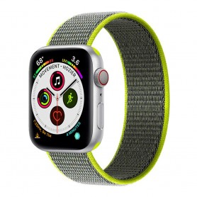 Apple Watch 5 (40mm) Nylon armbånd - Flash