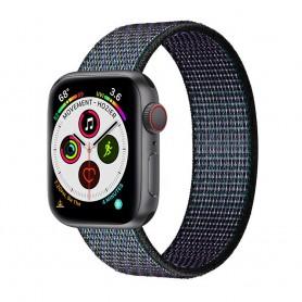 Apple Watch 5 (40mm) Nylon armbånd - Glowing Grapes