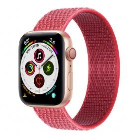 Apple Watch 5 (40mm) Nylon armbånd - Hibiskus