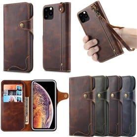 """Mobil lommebok 3-kort ekte skinn Apple iPhone XI Max 2019 (6,5 """")"""