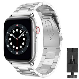 Armbånd Rustfritt stål Apple Watch 6 (44mm) - Sølv