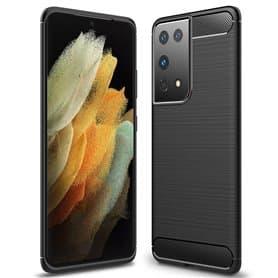 Børstet silikondeksel Samsung Galaxy S21 Ultra