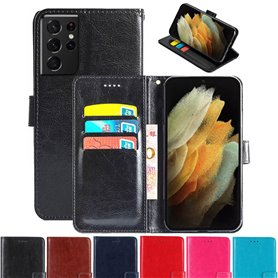Lommebokdeksel 3-kort Samsung Galaxy S21 Ultra