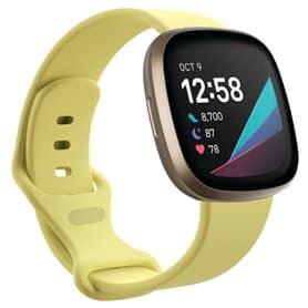 Sport armbånd till Fitbit Sense - Creamy Yellow