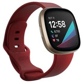 Sport armbånd till Fitbit Sense - Mørkerød