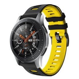 Twin Sport armbånd Samsung Galaxy Watch 46 - Svart/gul