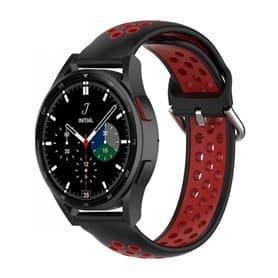 EBN Sport Armband Samsung Galaxy Watch 4 Classic 42mm - Svart/rød