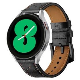 Armbånd lær Samsung Galaxy Watch 4 (44mm) - Svart